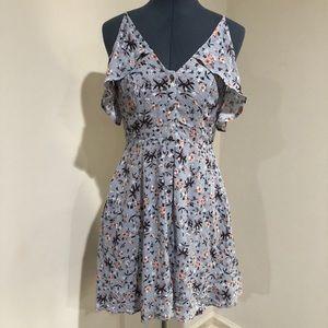 ASTR Cold Shoulder Floral Dress